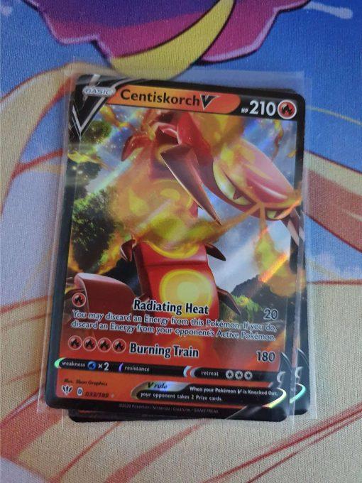 Pokemon Karte Centiskorch V 033/189 Sword and Shield Darkness Ablaze (Englisch)