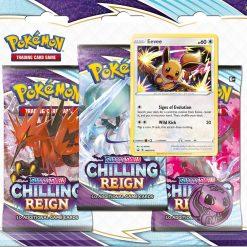 Pokemon Chilling Reign 3 Booster Blister Eevee